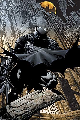 Batman Póster Grande de DC Comics Vigilancia Nocturna, Madera, Multicolor