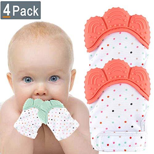 NEPAK 4 pack Baby dentición Manoplas-Protege Manos