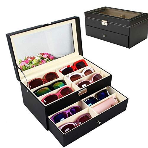 MUY Gafas de Sol, Almacenamiento de Gran tamaño, Nuevas Cajas de Madera Decorativas, Vitrina, joyería, Gafas, Caja organizadora, decoración Artesanal