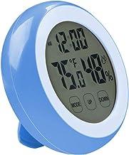 Lancoon Monitor De Humedad De Temperatura Interior - Termómetro De Higrómetro con Pantalla De Retroiluminación Grande, Pantalla TáCtil Y Función De Reloj Despertador - AC08 Azul