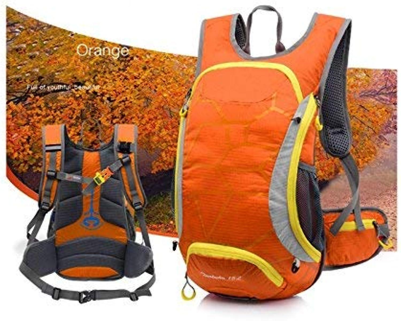 XINSU Home Outdoor und Indoor Outdoor ultraleichter atmungsaktiver Kletterrucksack Wanderrucksack (Orange) B07L1PBQ5M  Sehr gute Farbe