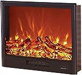 Calefacción Eléctrica con Efecto De Llama De Fuego 3D Efecto De Estufa De Leña Eléctrica Portátil con Mando A Distancia
