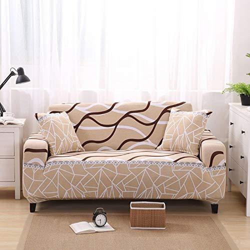 sfwr Copridivano Spandex Stretch Copridivano per soggiorno copripiumini per Poltrone/Divano a Due posti Divano Cubre Copri divano 1/2/3/4 Seater-Color 20,4-Seater (235-300cm)