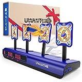UWANTME 最新版 電子ターゲット 三代目 ナーフ対応 射撃練習 おもちゃ 電子銃射撃ターゲット 2つプレイヤーモード デジタルターゲット 自動リセット 電子スコアリング機能 子ども