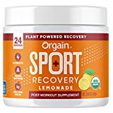 Orgain Lemonade Sport Recovery Post-Workout Powder - Made with Apple Cider Vinegar, Turmeric, Ginger, and Ashwaganda, Gluten Free, Non-GMO, Vegan, Dairy and Soy Free - 0.53 lbs (Packaging May Vary)