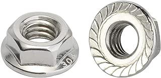 wiz nuts Zinc 1//4-20 Serrated Hex Flange Nuts Flange Locknuts or Spin 1000
