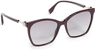 نظارات شمسية من فيندي اف اف وعدسات 0344/S للنساء لون ارجواني / رمادي جريجو قياس 57