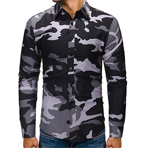ZCZH Sweatshirt Herren Casual Full Zip Raglan Langarm Strickjacke Herren Mode Classics Rippen Camo Drucken Jacke Slim-Fit Sweatshirt Herbst und Winter Warm Jacke Outwear M