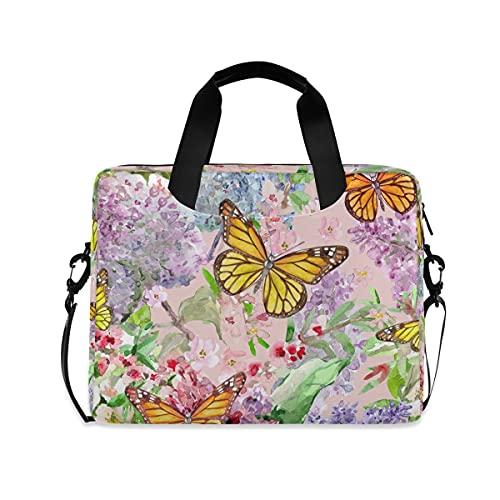 HaJie - Bolsa para ordenador portátil de 15,6 cm, diseño de mariposas,...