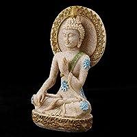 瞑想の装飾、砂岩の細かい細工の仏の装飾、家庭用ショップ