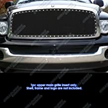 APS Compatible with 2002-2005 Dodge Ram Black Stainless Steel Mesh Grille Grill Insert S18-H5725LD