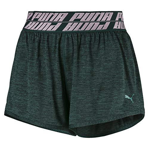 PUMA Damen Own It 3` Short Jogginghose, Ponderosa Pine Heather, XL