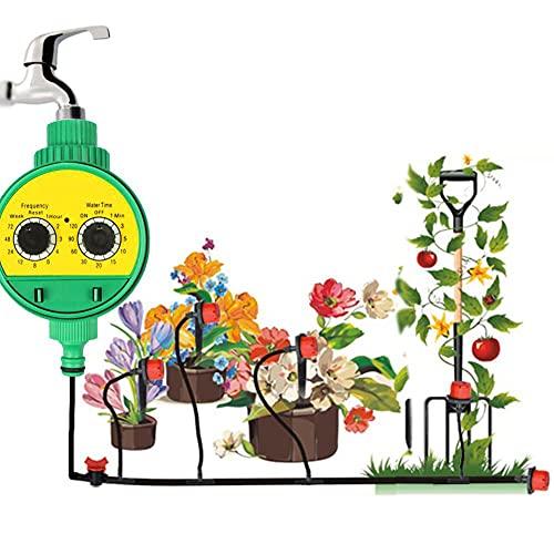 WQJJ Temporizador de Riego con Temporizador, Temporizador de Agua Automático Controlador Digital Programable para Jardín, Macizo de Flores, Plantas de Patio, Terraza, Paisaje, Invernadero