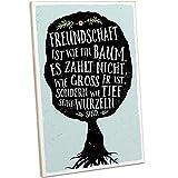 ARTFAVES® Holzschild mit Spruch - Freundschaft IST WIE EIN Baum   Vintage Deko Schild zum Thema Freundschaft   Shabby Chic Holzbild auch als Geschenk
