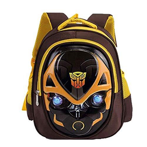 WQLESO Bumblebee Transformers Children's School Backpack Teens Backpacks for Boys Girls School Bags,Yellow-30 * 26 * 12cm