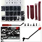 Zolson 500 Pcs Car Retainer Clips &screw Grommets - 18 Most Popular Sizes & Applications for Most of Car, Trucks, Off-road Vehicle, Van - Bonus Fastener Remover
