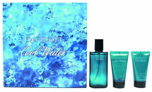 Davidoff Cool Water Geschenkset homme / men, Eau de Toilette Vaporisateur / Spray 75 ml, Duschgel 50 ml, Aftershave Balm 50 ml, 1er Pack