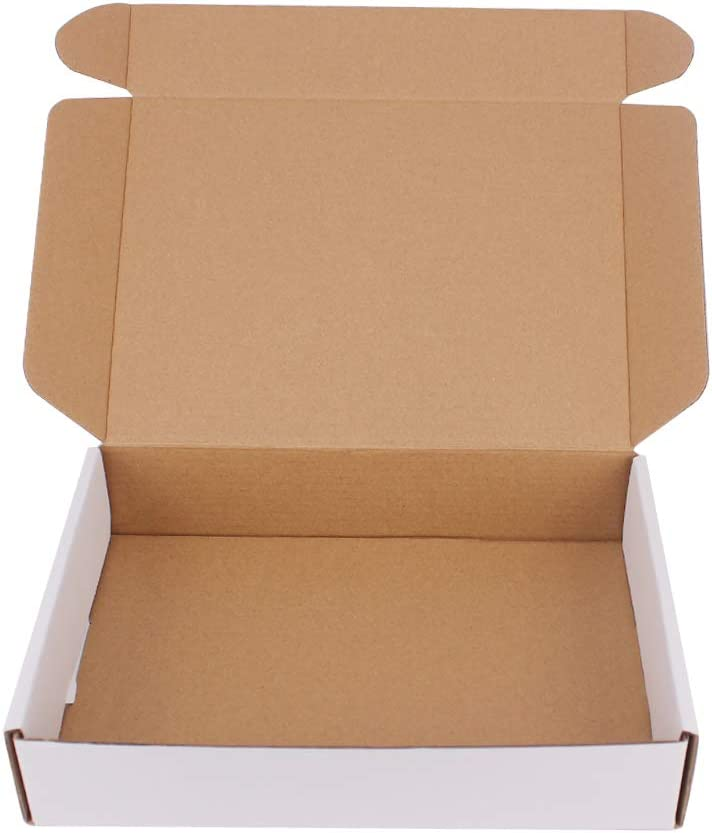35 Free shipping on posting reviews Pack 9x6.5x1.75 inch Corrugated Minneapolis Mall White Box Cardboard Mailers-