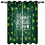 DaringOne Happy St. Patrick's Day Polyester Curtains for Living Room/Dining Room, 2 Panels Bedroom Curtain 40x63 inch, Grommet Top Window Treatments Drapes Dreamlike Irish Clovers