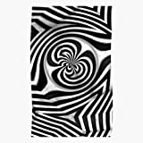 Metal Black Abstract Highlights White Hypnosis Swirls Shadows Highlights - Wall Art Print Poster Home Decor Premium I Customize