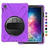 OKZone Coque pour Galaxy Tab S5E T720,Rotatif à 360 degrés et d'un Ceinture de Cravate, Anti-Choc,Compatible avec Samsung Galaxy Tab S5E T720 10.5 Pouces (Violet)