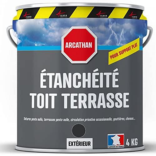 Etanchéité Toiture plate, toit plat et toit terrasse : Membrane Elastique Colorée - Résine...