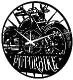 Instant Karma Clocks - Reloj de Pared de Vinilo para Moto o Moto de Hombre, diseño Moderno