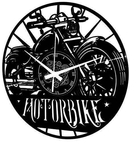 orologio da parete vinile Instant Karma Clocks Orologio in Vinile da Parete Motociclismo Motorbike Moto Uomo Strada Rider