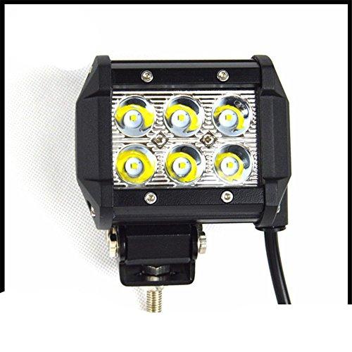 VKDLD 18W 12V-30V Led Barre Lumière, ECC Spot Peigne Travail Lumière Drving Lumières Lampe Brouillard Convient à tous les modèles
