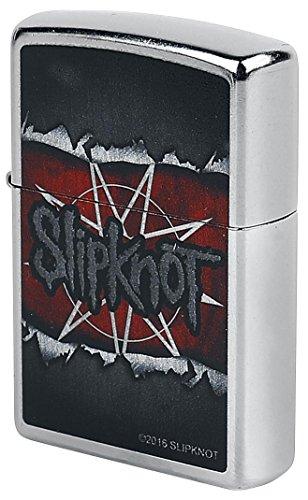 Zippo Slipknot-Street Chrome-Spring 2017 Feuerzeug, Silber, 5.8 x 3.8 x 2 cm