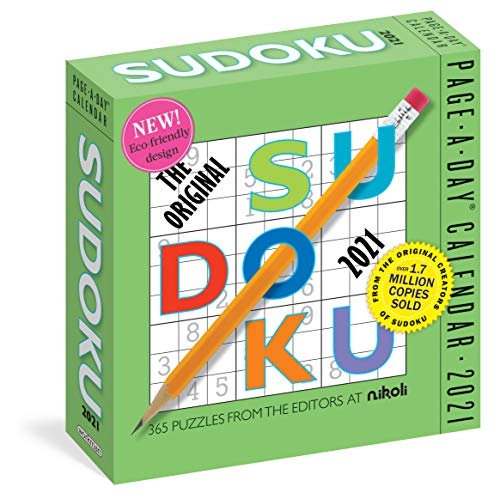 Compare Textbook Prices for Original Sudoku Page-A-Day Calendar 2021  ISBN 9781523508877 by Editors at Nikoli,Workman Calendars