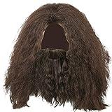 EC Hagrid Cosplay Wig Curly Black Fluffy Useful Long Hair Cosplay Costume Accessory