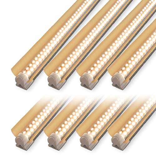 LED Grow Light Stirp, 4ft T8 Grow Light Fixture, 336W(8×42W) Full Spectrum Plant Grow Light, High Output Sunlight Replacement with High PAR for Indoor Plant, 8-Pack