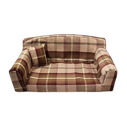 Mulberry Royal - Pet Sofa. 3 sizes Dog bed cover material. Made in UK (Medium 96 x 46 x 34cm)