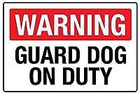 Warning Guard Dog 注意看板メタル安全標識注意マー表示パネル金属板のブリキ看板情報サイントイレ公共場所駐車ペット誕生日新年クリスマスパーティーギフト