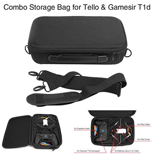 Bescita Housse étanche portable sac bandoulière Corps/Batterie/Télécommande Sac à main Sac de transport pour DJI tello Drone