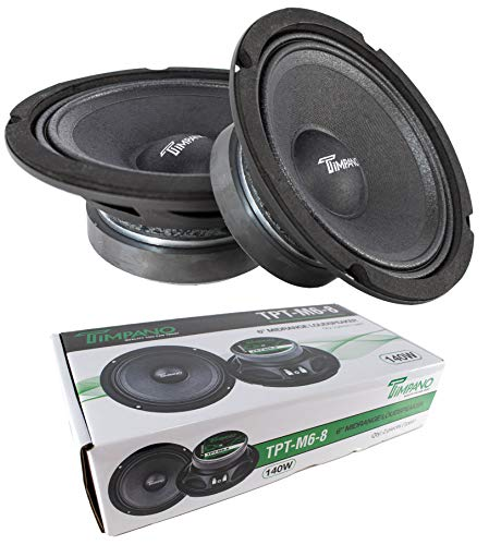 2X 6 Mid Range Loud Speakers Pro Audio 280W 8 Ohm Timpano TPT-M6-8