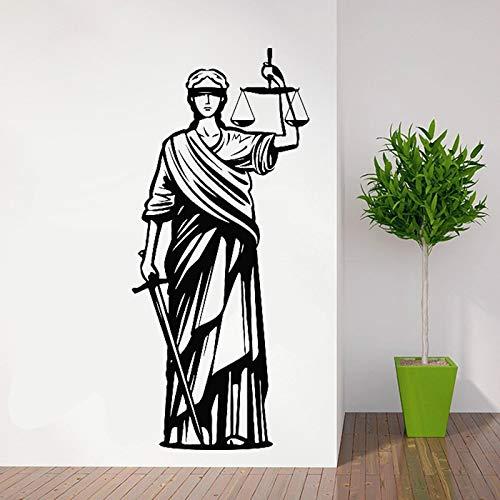 JXMN Diosa Griega de la Justicia Pegatina de Pared bufete de Abogados calcomanía de Pared Lady Justice decoración de Vinilo decoración de la habitación del hogar Cartel 194x86cm