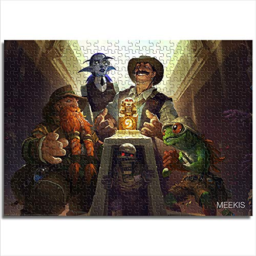 Digitaler HD-Druck-Puzzle, Hearthstone Heroes of Warcraft Mini, 1000 Teile Papier-Puzzle