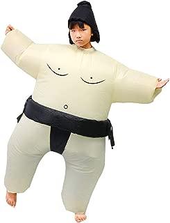 SIREN SUE Funny Sumo Inflatable Sumo Suit Wrestler Wrestling Suits Blow Up Suit for Child Black