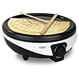 NutriChef Electric Griddle & Crepe Maker - Nonstick 11.8 Inch Hot...