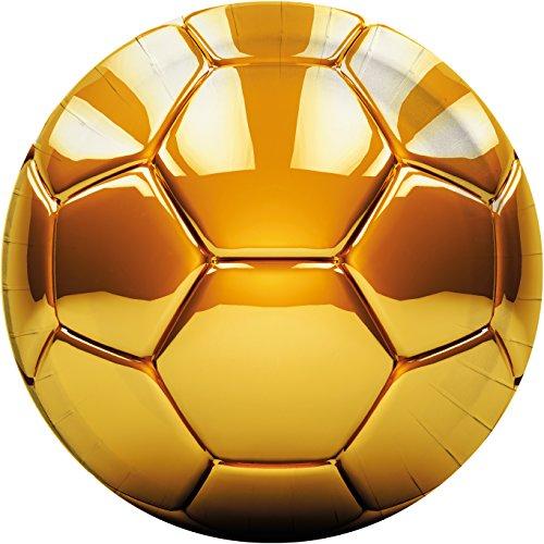 Procos 8 assiettes * Football * pour fêtes ou les anniversaires d\'enfants//en or de Wm 2018 Design//WM 2018 Devise Party Anniversaire Soccer Assiettes en carton Assiettes