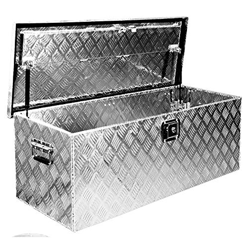 Truckbox Box Werkzeugkiste Anhängerbox Deichselbox 15 Größen Alumium Trucky, Boxentyp:D160 (109 x 40 x 38 cm) - 2
