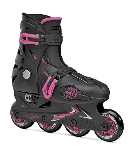 Roces 400687 - Orlando III Kinder Inlineskate US 13jr-3, schwarz/pink
