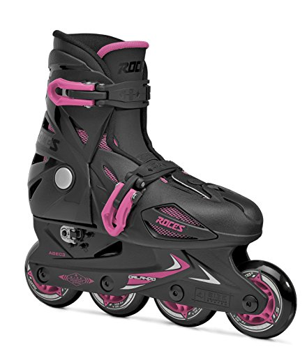 Roces 400687 Model Orlando III Kids Inline Skate, US 13jr-3, Black/Pink