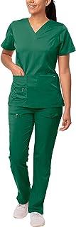 Adar Uniforms Women's 4400hgrl Medical Scrubs, Hunter Green, L UK