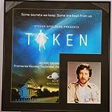 Custom Black Metal Frame - 2002 - TAKEN TV series Poster - with Steven Spielberg In Person 8x10 Photo - Starred Dakota Fanning/Matt Frewer - UFOs & Aliens - Very Rare - Collectible