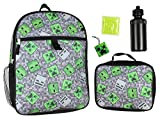 Minecraft Creeper Ghoul 16' Backpack and Lunch Kit 5pc Set