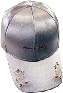 Redcolourful Baseball Cap 1 Piece Of Women'S Baseball Cap Top Fashion Flower Embroidered Bow-knot Shade Baseball Hat gray ...
