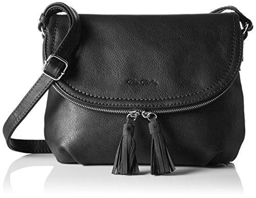 TOM TAILOR Umhängetasche Damen Lari, Schwarz (Schwarz), 5x21x26.5 cm, TOM TAILOR Handtaschen, Taschen für Damen